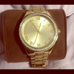 Michael Kors Gold Jeweled Women's Watch